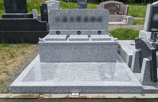 恵庭墓園で建立のお墓