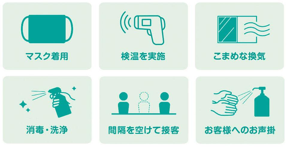感染症拡大防止策6つの取組