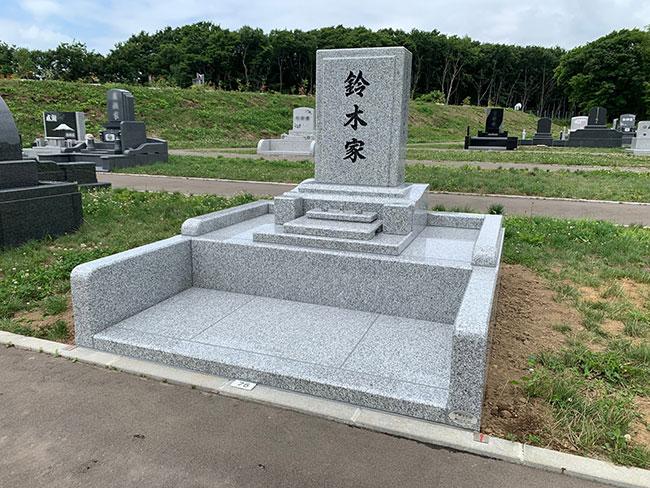 恵庭墓園第4墓園で建立の鈴木様のお墓