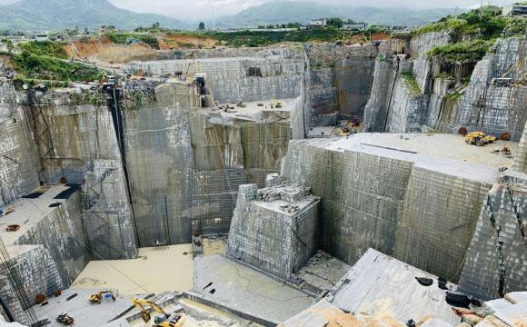 中国の採石場
