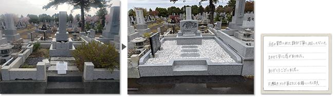 里塚霊園で改建したお墓