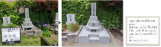 円山墓地でリフォームしたお墓